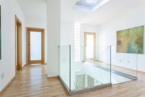 Barandal de vidrio templado
