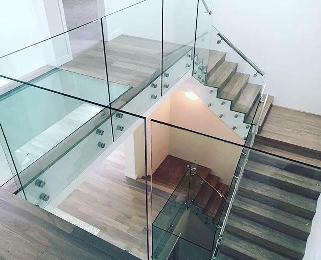 barandales de vidrio templado