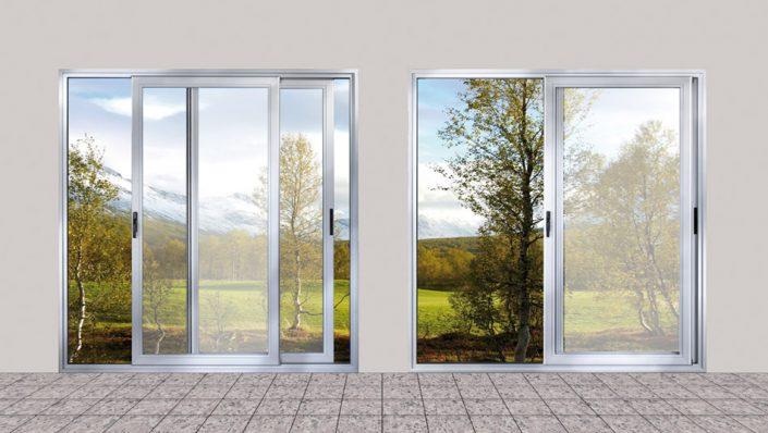 Puertas aluminio Cristal Templado
