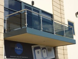 balcon de vidrio templado