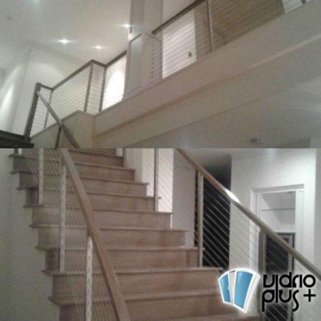 barandal-acero-inox-vidrioplus interior cuadrado
